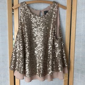 Anthropologie Sequin swing top sleeveless size XL